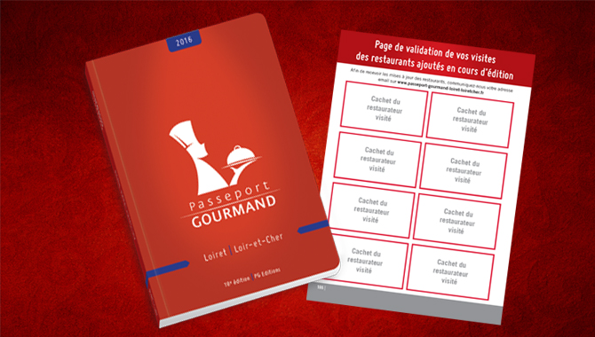 Page de validation dans le Passeport Gourmand